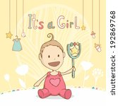 baby shower it's a girl  baby... | Shutterstock .eps vector #192869768