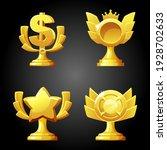 gold luxury figurines awards...