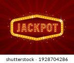 flat jackpot light for game... | Shutterstock .eps vector #1928704286