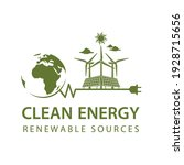 renewable energy icon with wind ...   Shutterstock .eps vector #1928715656