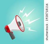 megaphone icon. vector...   Shutterstock .eps vector #1928718116