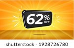 62  off. yellow banner with...   Shutterstock .eps vector #1928726780