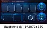 futuristic hud interface screen ...