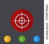 modern circle icons set on...