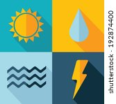 vector weather set icon. sun... | Shutterstock .eps vector #192874400