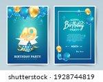 49th years birthday vector... | Shutterstock .eps vector #1928744819