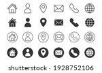 Set Of Contact Us Icons. Vector ...