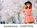 beautiful asian girl   Shutterstock . vector #192875936
