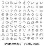 set of 100 minimal modern...   Shutterstock .eps vector #192876008