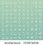 set of 100 minimal modern white ...