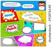 illustration of colorful comic... | Shutterstock .eps vector #192876140