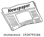 newspaper line vector... | Shutterstock .eps vector #1928795186