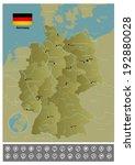 germany. raster copy of vector... | Shutterstock . vector #192880028