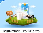 3d milk ad template for product ... | Shutterstock . vector #1928815796