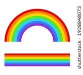 rainbow vector illustration...   Shutterstock .eps vector #1928848073