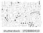 doodle arrows. hand draw... | Shutterstock .eps vector #1928880410
