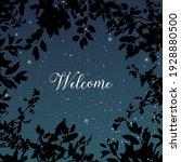 magic night dark navy card with ... | Shutterstock .eps vector #1928880500