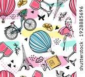 Fashion Seamless  Paris Pattern....