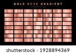 Set Of Gold Rose Foil Texture....