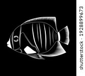 sea fish. vector image on a... | Shutterstock .eps vector #1928899673