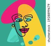 abstract woman face. vector... | Shutterstock .eps vector #1928899679