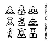Student Icon Or Logo Isolated...