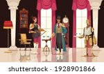 steampunk people with robotic...   Shutterstock .eps vector #1928901866