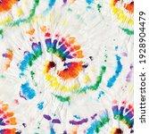 vector tie dye swirl. rainbow... | Shutterstock .eps vector #1928904479