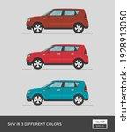 urban vehicle. suv in 3... | Shutterstock .eps vector #1928913050