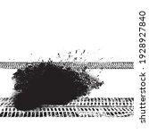 vector print textured tire... | Shutterstock .eps vector #1928927840