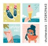 set of summer illustrations.... | Shutterstock .eps vector #1928929643