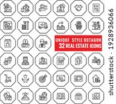 unique real estate outline  web ...   Shutterstock .eps vector #1928936066