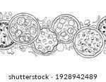 hand drawn pizza.  vector...   Shutterstock .eps vector #1928942489