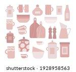 kitchen utensils vector set.... | Shutterstock .eps vector #1928958563