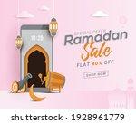 ramadan sale banner discount...   Shutterstock .eps vector #1928961779