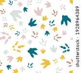 dinosaur footprint tracks.... | Shutterstock .eps vector #1928964389