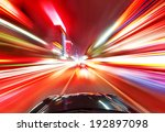 a car driving on a motorway at... | Shutterstock . vector #192897098
