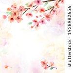 watercolor flowers. sakura. set ...   Shutterstock . vector #1928982656