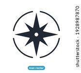 wind rose icon. navigation.... | Shutterstock .eps vector #1928987870