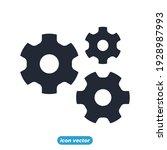 gear development icon. business ... | Shutterstock .eps vector #1928987993