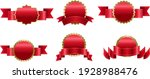 big set red medals isolated... | Shutterstock .eps vector #1928988476