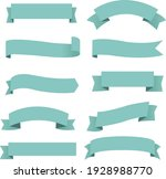 big set mint ribbon isolated... | Shutterstock .eps vector #1928988770