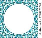 round mosaic frame. asian...   Shutterstock . vector #1928990240