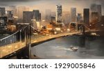 oil painting on canvas   view... | Shutterstock . vector #1929005846