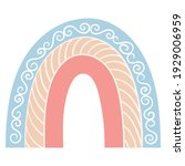 children's rainbow in boho... | Shutterstock . vector #1929006959