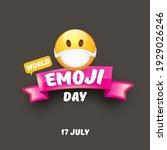 world emoji day greeting card... | Shutterstock .eps vector #1929026246
