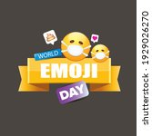 world emoji day greeting card... | Shutterstock .eps vector #1929026270