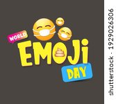 world emoji day greeting card... | Shutterstock .eps vector #1929026306