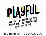 playful colorful font design ... | Shutterstock .eps vector #1929033890