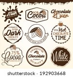 chocolate design elements ... | Shutterstock .eps vector #192903668